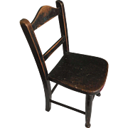 Childs chair. Victorian. Beech.  Small chair perfect for a doll. 18 inches high. English country furniture.