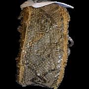 6.5 meters of early 19 th century Italian braid. Golden metallic thread.