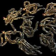 8  ,19 th century little tassels . Golden metallic thread.