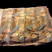 Early 18 th century silk woven brocade panel . Venetian. Italy circa 1720.