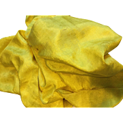 Early 19 th century Jaoanese silk. Over 6 meters of acid yellow silk.