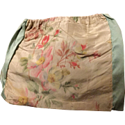 Early 19 th century chine silk drawstring purse. English