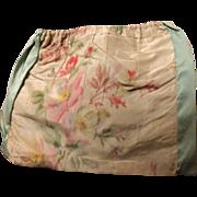 Early 19 th century chine silk drawstring purse. English