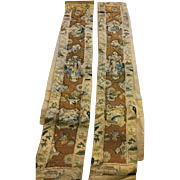 19 th century Chinese sleeve bands. A pair. Fine detail . Figural