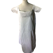 1835 ladies cotton shift. Dated with name. R.A.Wilson. English.