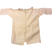 Early 19 th century Georgian babies shirt with equisite stitching. Fine linen. English.