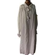 Georgian linen men's nightgown . English. Pen name,C.Fotheringill. 1800 to 1830.