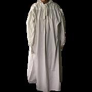 Georgian men's cotton nightgown. First quarter of the 19 th century. English.