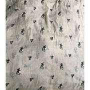 Georgian hand embroidered muslin. 3 yards. Made for the European market. Early 19 th century.