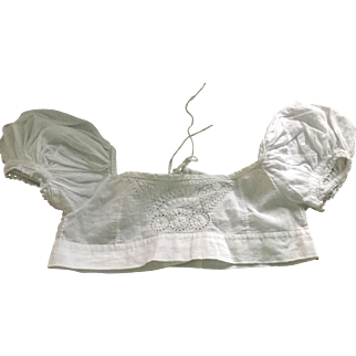 Early 19 th century child's bodices with hand embroidered detail.Georgian.English.
