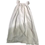 Regency.circa 1800 fine cotton babies robe, very skilful sewing.pintucks .English.