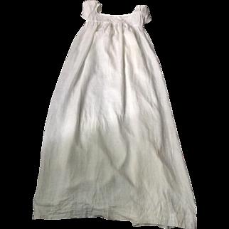 Regency.circa 1800 fine cotton babies robe, very skilful sewing.pintucks .English.