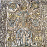 17th century Italian hand embroidered and couched panel.