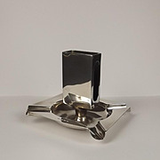 1932 Silver Combination Match Holder & Ashtray