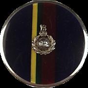 1931 Ladies Silver & Enamel Royal Marines Compact