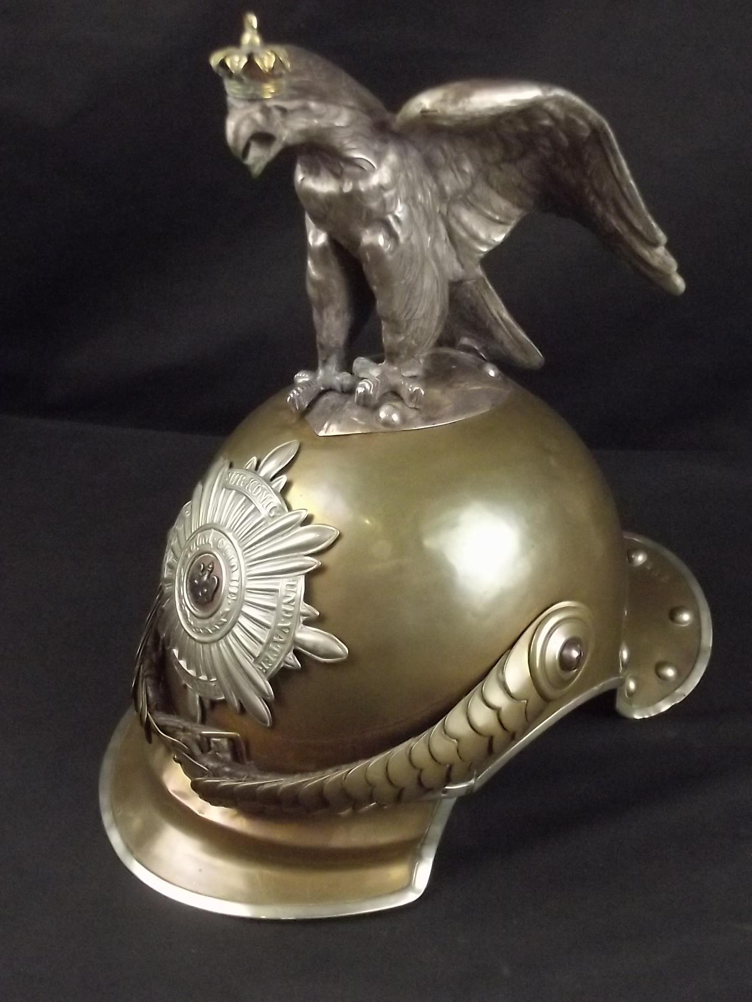prussian garde du corps enlisted mans helmet jaeger. Black Bedroom Furniture Sets. Home Design Ideas