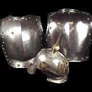 Officers Model 1862 Prussian Kürassier Helmet And Cuirass