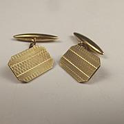 Pair Of 9ct Yellow Gold Cufflinks