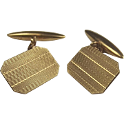Pair Of 9ct Yellow Gold Cufflinks