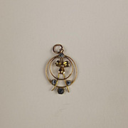 9ct Yellow Gold & Glass Pendant