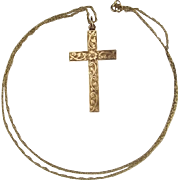 9ct Gold Cross Pendant Necklace