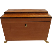 Art Deco Satinwood Tea Caddy