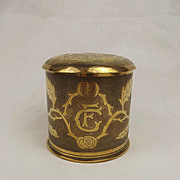French 75mm Shell Case Trench Art Tobacco Jar 1916