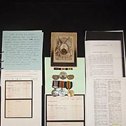 WW1 Military Medal Set Of Lance Cpl. G.H. Steward Hampshire Regiment