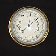 Maritime Bulkhead Ships Brass Barometer By Sestrel