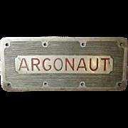 HMS Argonaut F56 Named Bronze Tread Plate