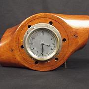 Converted Wooden Propeller Hub Clock