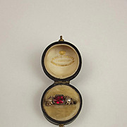 1871 9ct Yellow Gold Pearl & Glass Ring UK Size K+ US 5 ½