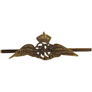 9ct Yellow Gold Royal Flying Corps Sweetheart Brooch
