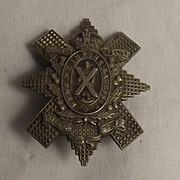 Circa 1909-1920 WW1 Era Highland Cyclist Battalion Cap Badge #1