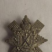 C 1909-1920, WW1 Era Highland Cyclist Battalion Cap Badge #2
