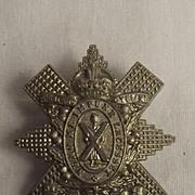 C 1909-1920, WW1 Era Highland Cyclist Battalion Cap Badge #3