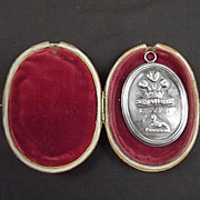 1813 Battle Of Vittoria Silver Presentation Medallion To Lt. E. Penfold Light Dragoons