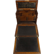 Circa 1850s Portable Campaign Writing Slope Of Lt Colonel Charles Woodford