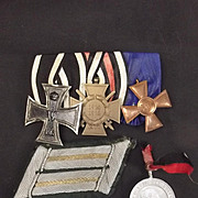 Imperial German/Inter Wars WW1 Military Medal Set