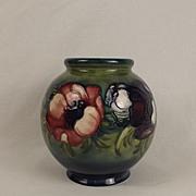 Moorcroft Anenome Pattern Bulbous Vase