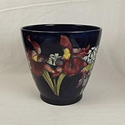 Large Moorcroft Orchid Pattern Planter
