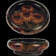 Large William Moorcroft Poppy Pattern Tudric Pewter Mounted Bowl