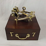 Cased Heath & Co. Brass Three Circle Frame Sextant