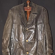 WW2 German Navy Leather Great Coat