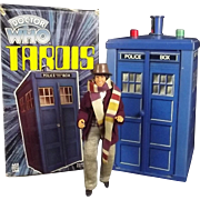 Boxed Doctor Who Tardis Toy With Tom Baker Figure 1977