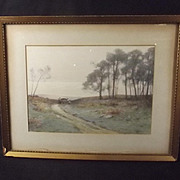 Early 20thC Framed Watercolour Of A Countryside Scene By H English
