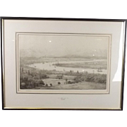 William Wyllie Signed Etching Of A View Of Greenwich & The Thames