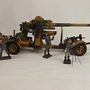 Circa 1938/9 Lineol Model No.1230 Flak 36 88mm Anti Aircraft Gun Tin Plate Model