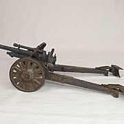 German Tin Plate Toy Model Of A Large Anti-Tank Gun