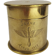 WW1 Somme Trench Art Shell Case Tobacco Jar